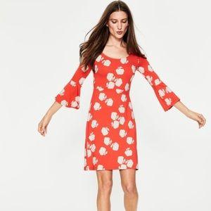 Boden Miriam dress orange floral size US 6